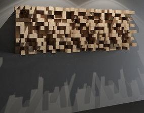 3D model QRD Diffuser - recording studio wall panel