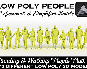 3D model Low Poly People Pack