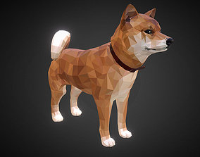 3D asset Dog Redhead Low Polygon Art