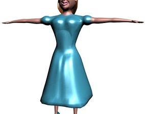 Girl in blue 3D model