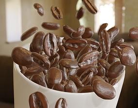 3D asset Coffee beans