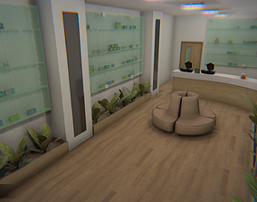 3D model Pharmacy - interior and props