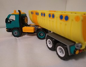 Semi dump truck toy - fully 3D printable - assembly