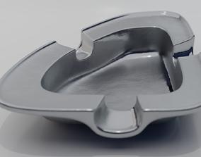 silver 3D Ashtray