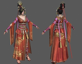 low-poly Chinese beauty Woman Female pretty girl lady 3D