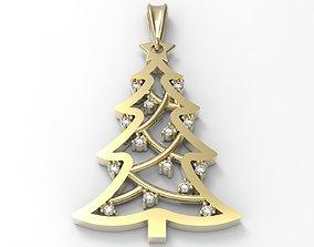 pendant fir tree 3D printable model