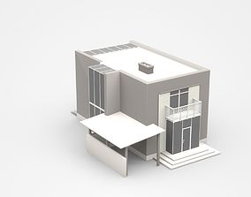 3D model Modern Two-storey House With Attached Garage