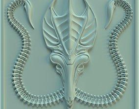 3D printable model Wall tile Alien Queen