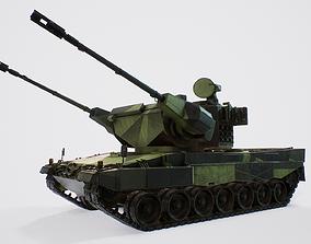 3D model Leopard 2 Marksman - Finnish Anti-Air Vehicle