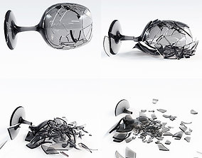 Wineglass Crash Animation 2 3D model