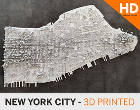 Midtown Manhattan NYC 3D print in parts including