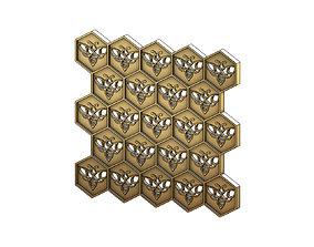 cnc Beehive motif panel for 3dprinting