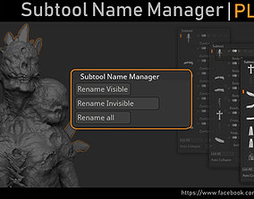 Zbrush - Subtool Name Manager 3D