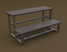 3D asset Tribune 04 R