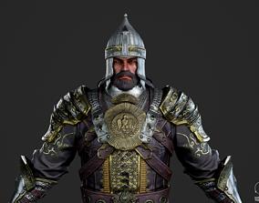 3D asset Medieval armor Warrior soldier monarch King 1