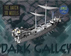 3D model Fantasy Dark Galley