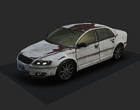 Beat down car 3D asset