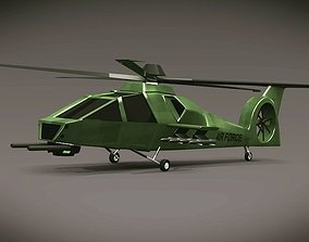 Army helicopter concept 3D model game-ready