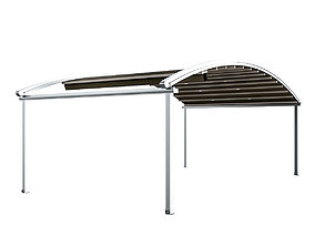 3D Motorized Pergola 4 chrome matte