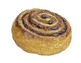 Photorealistic Cinnamon Roll 3D Scan