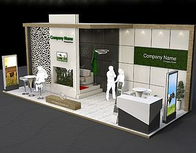 3D model exhibition stand Vip