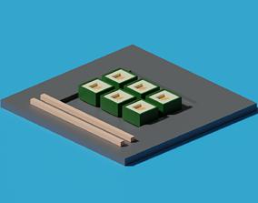 illustration Sushi 3D