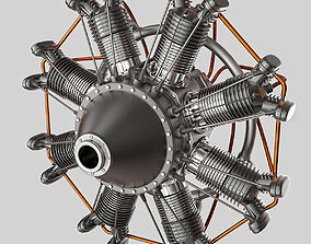 3D model Animated Radial Engine