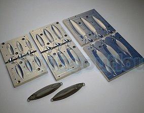 15-200 Gr JPR Slow Jig Mold Packs 3D printable model