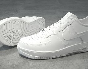 3D model Nike Air Force 1 low white