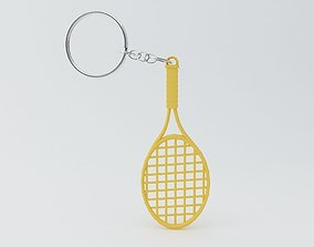 Tennis Racket Keychain 3D printable model