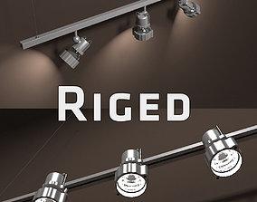 3D model Gallery Light Set Rigged