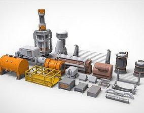 3D construction sci-fi Architecture kitbash 17