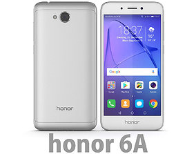 3D Huawei Honor 6A Silver