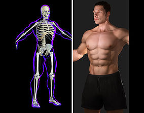 3D model Rigged Male X-Ray Skeleton with Skin
