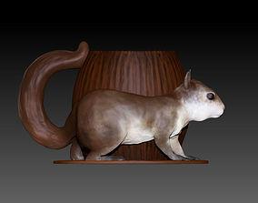 Squirrel Mug 3D printable model