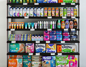 Rack with hygiene products 3D