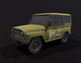 realtime UAZ Hunter Low-poly 3D model clean ver