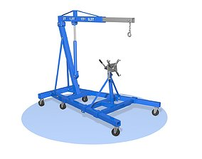 Hydraulic folding crane 3D