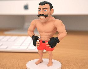 Miniature of boxing champion 3D printable model