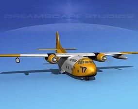 Fairchild C-123B Provider Firefighter 2 3D animated