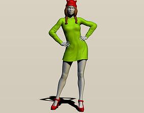 3D print model girl in a hoodie