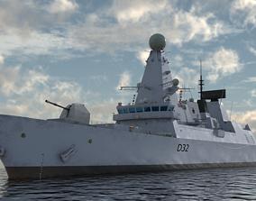 3D HMS Daring - Royal Navy Type 45 Air Defence Destroyer