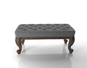 sofa 3D model ottoman