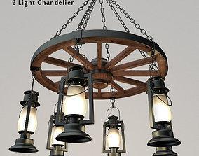 3D model Pioneer Series 6 Light Chandelier
