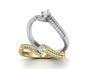 3D printable model Engagement ring paradise 116