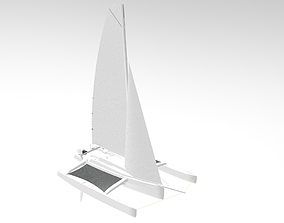 3D model Trimaran Sailing Boat