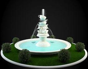 3D model exterior Fountain