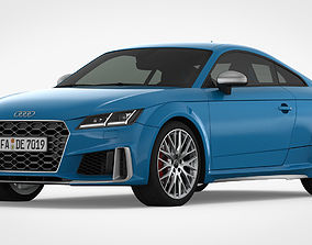 3D Audi TT 2019 Detailed Interior fast