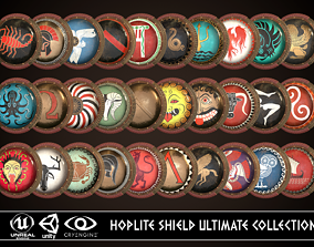 3D PBR Hoplite Shield Ultimate Collection