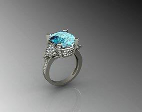 blu diamond cushion 3D printable model
